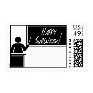 National SubTeacher Appreciation Week - SubWeek Postage Stamp