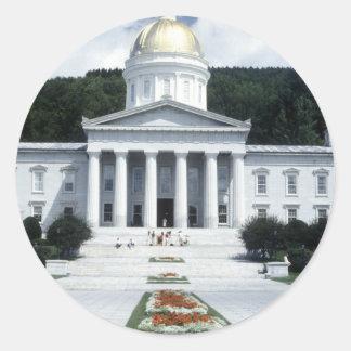 National Symbols Landmarks 1 Classic Round Sticker