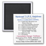 National T.I.P.S. Helplines - Dial N11 Codes Magnet