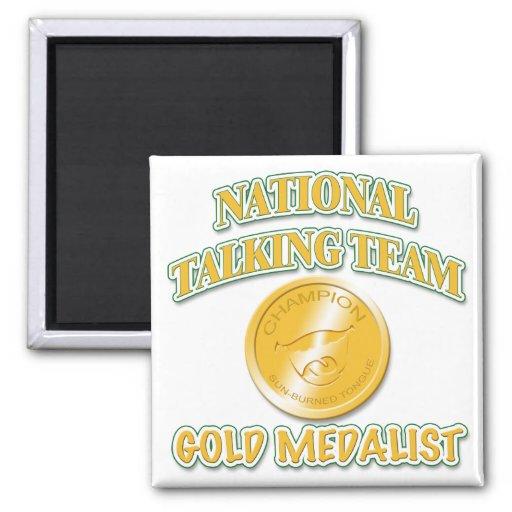 National Talking Team Gold Medalist 2 Inch Square Magnet