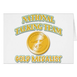 National Talking Team Gold Medalist Card