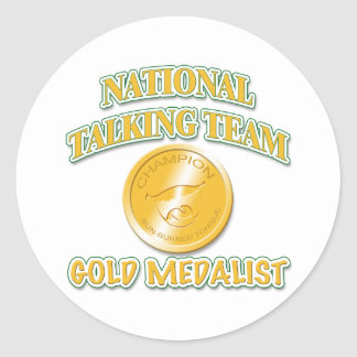 National Talking Team Gold Medalist Classic Round Sticker