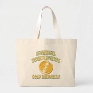 National Talking Team Gold Medalist Large Tote Bag