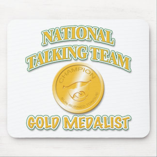 National Talking Team Gold Medalist Mouse Pad