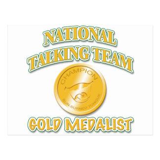 National Talking Team Gold Medalist Postcard