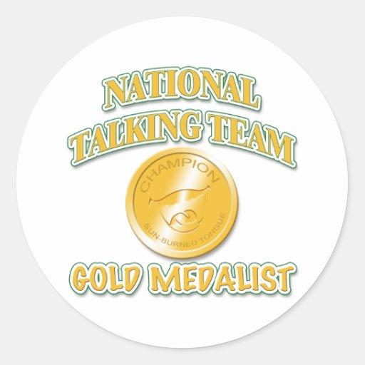 National Talking Team Gold Medalist Round Sticker