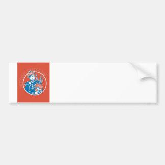 National Tartan Day Bagpiper Retro Greeting Card Bumper Sticker