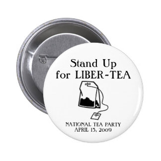 National Tea Party Pinback Button