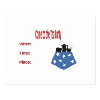National Tea Party Postcard