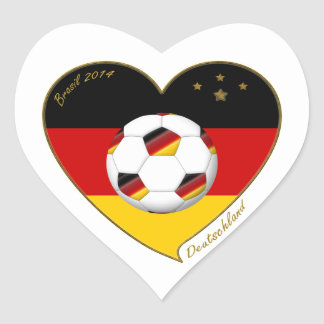 National team of GERMANY SOCCER 2014 and flag Heart Sticker