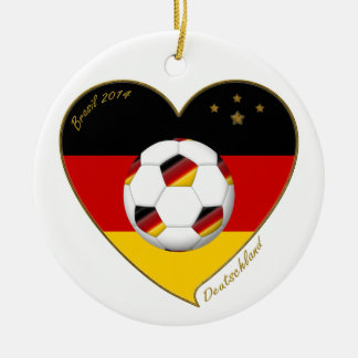 National team of GERMANY SOCCER 2014 and flag Christmas Tree Ornaments
