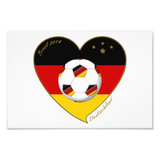 National team of GERMANY SOCCER 2014 and flag Photograph
