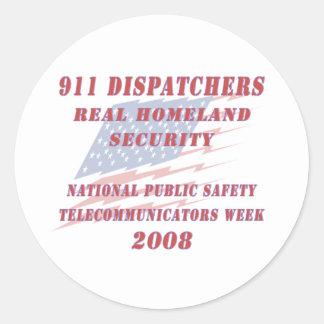 National Telecommunicators Week 2008 Classic Round Sticker