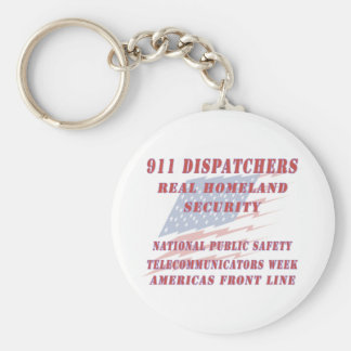 National Telecommunicators Week Americas Front Lin Keychain