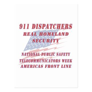 National Telecommunicators Week Americas Front Lin Postcard