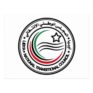 National Transitional Council of Libya Seal Postcard