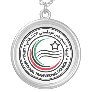 National Transitional Council of Libya Seal Round Pendant Necklace