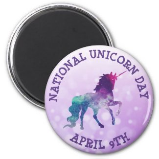 National Unicorn Day April 9th Holidays Magnet