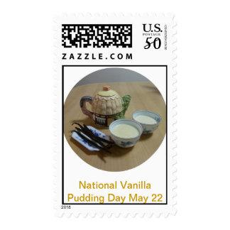 National Vanilla Pudding Day stamp