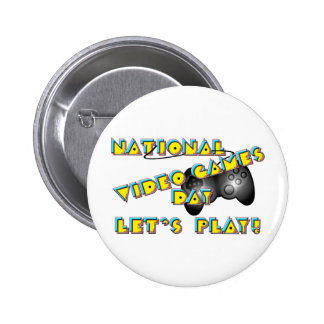 National Video Games Day Button