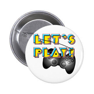 National Video Games Day - Let's Play! Buttons