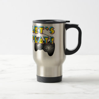 National Video Games Day - Let's Play! 15 Oz Stainless Steel Travel Mug