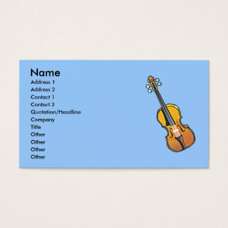 National Violin Day Business Card