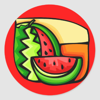 National Watermelon Day August 3 Classic Round Sticker
