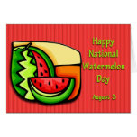 National Watermelon Day August 3 Greeting Cards