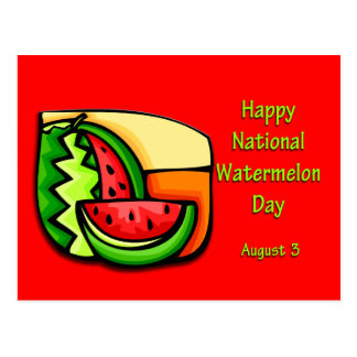 National Watermelon Day August 3 Postcard
