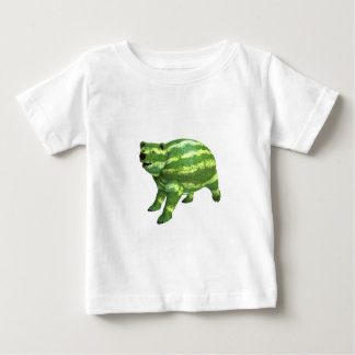 National Watermelon Day Bear Baby T-Shirt