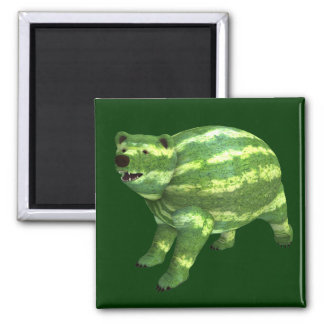 National Watermelon Day Bear Magnet