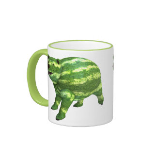 National Watermelon Day Bear Ringer Coffee Mug