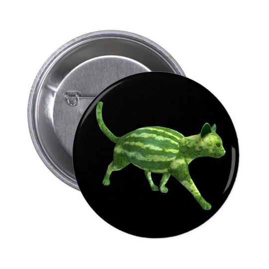 National Watermelon Day Cat Pinback Button