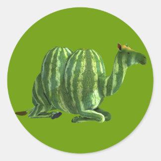 National Watermelon Day Dromedary Classic Round Sticker