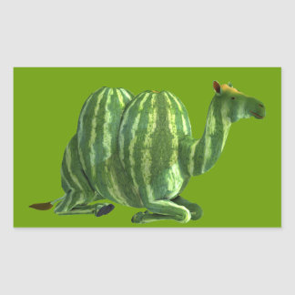 National Watermelon Day Dromedary Rectangular Sticker