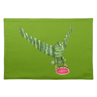 National Watermelon Day Eagle Cloth Placemat