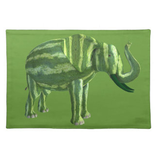 National Watermelon Day Elephant Placemat