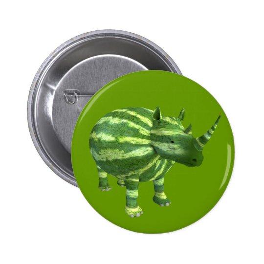 National Watermelon Day Rhinoceros Pinback Button