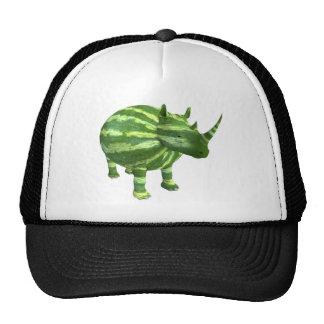 National Watermelon Day Rhinoceros Trucker Hat