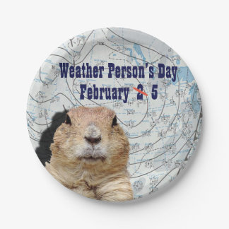 National Weather Person's Day February 5 Paper Plate