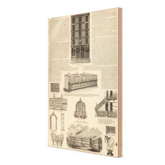 National Wire and Lantern Works, Howard and Morse Canvas Print