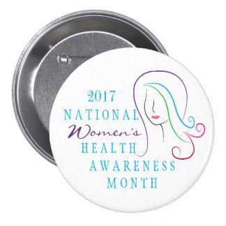 National Women's Health Awareness Pinback Button