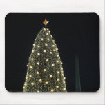 National Xmas Tree & Washington Monument at Night Mouse Pad