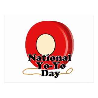 National Yo-Yo Day Postcard