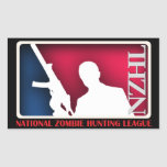 National Zombie Hunting League Sticker