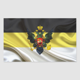 Nationalist Russia Flag Fabric Rectangular Sticker