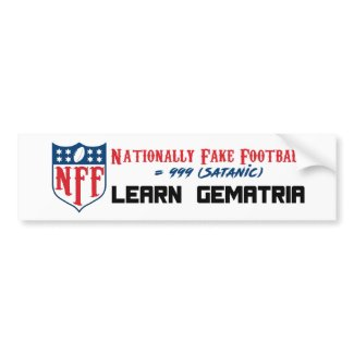 Nationally Fake Football Bumper Sticker