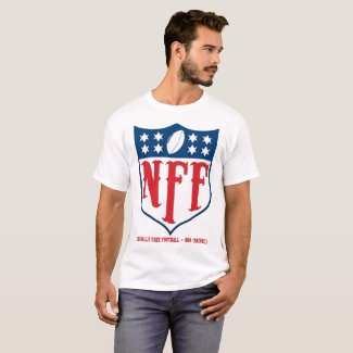 Nationally Fake Football Logo Men's White T-Shirt