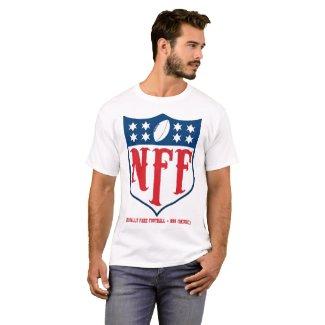 Nationally Fake Football Logo   Men's White T-Shirt